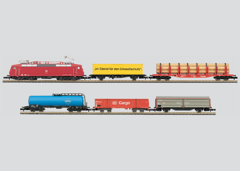 230 volts Freight Train Starter Set with Large Track Layout and Power Pack.
