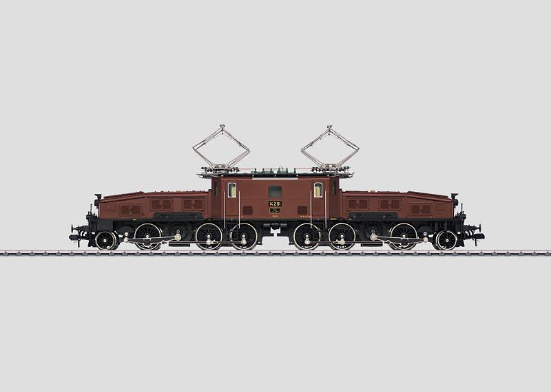 """Schwere Güterzuglokomotive """"Krokodil""""."""