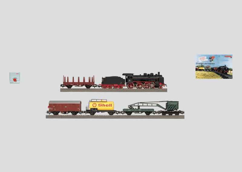 Güterzugpackung mit großer C-Gleis-Anlage, Transformator und DELTA-Control, 230 Volt