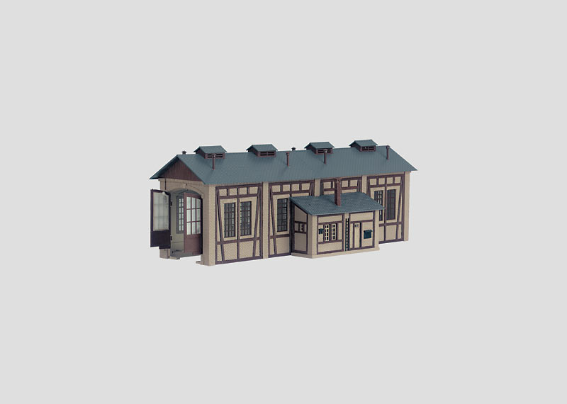 Building Kit of a Locomotive Shed.