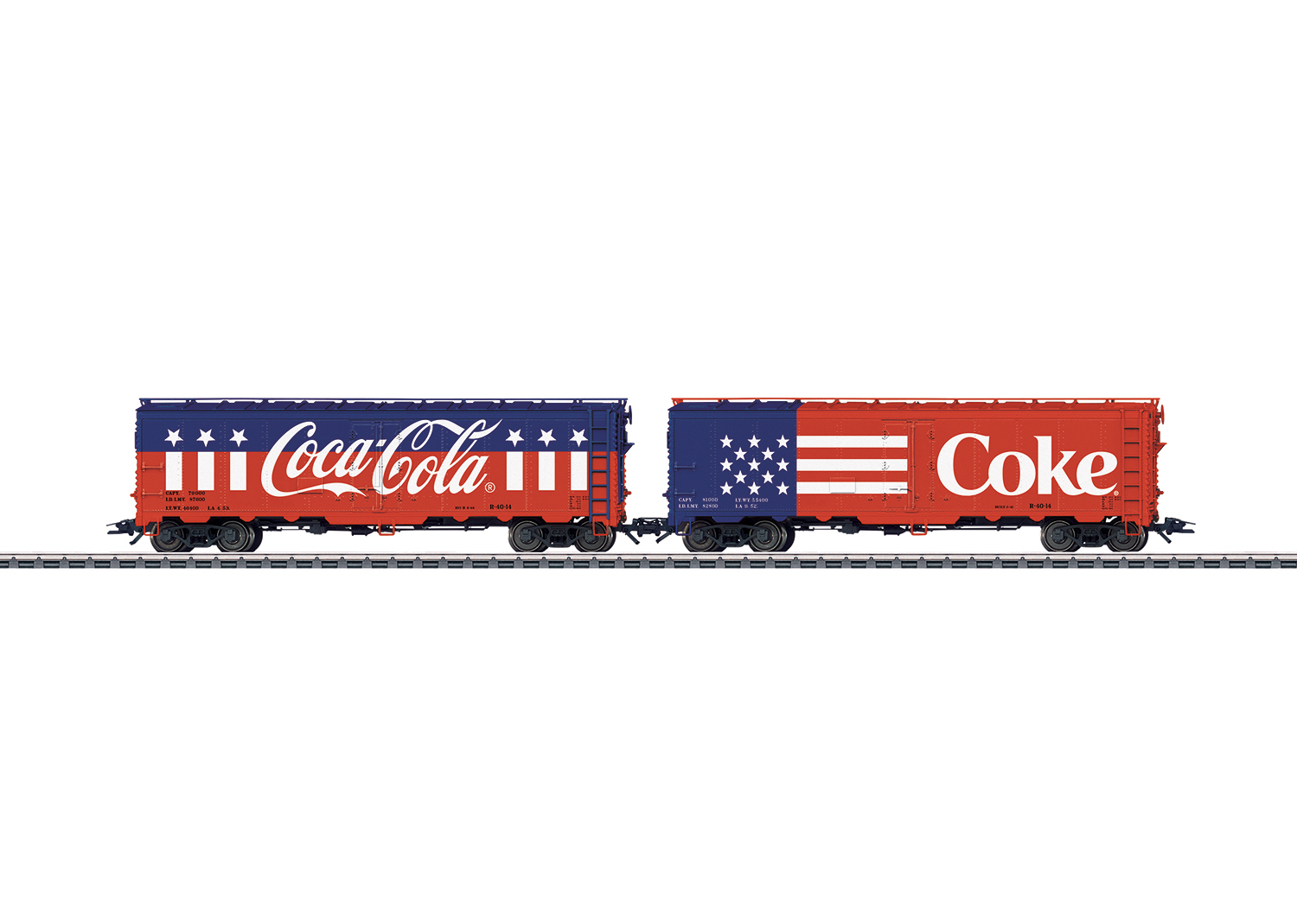 Freight Car Set with Two American Refrigerator Cars