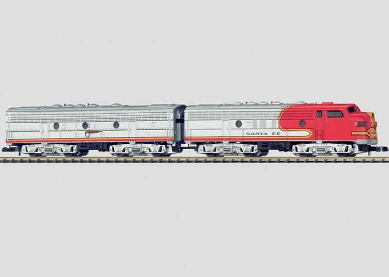US-dieselelektrische Lokomotive als Doppeleinheit.