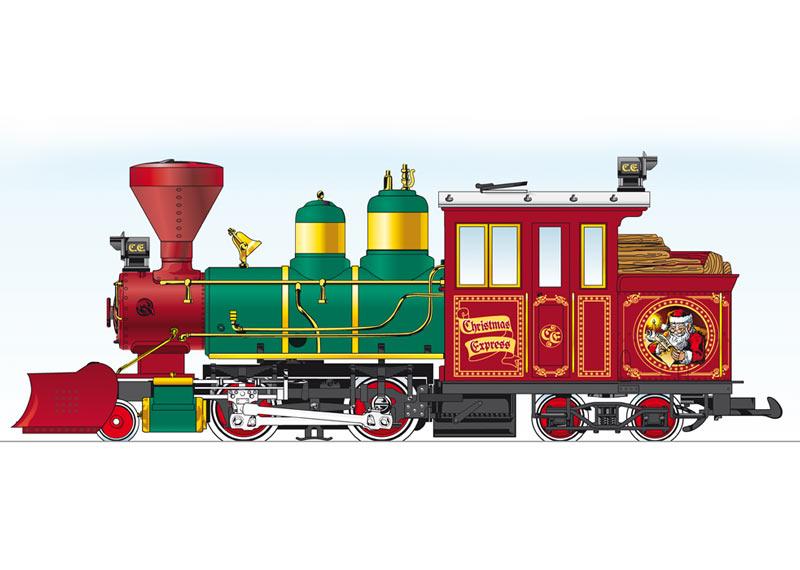 Christmas Forney Steam Loco