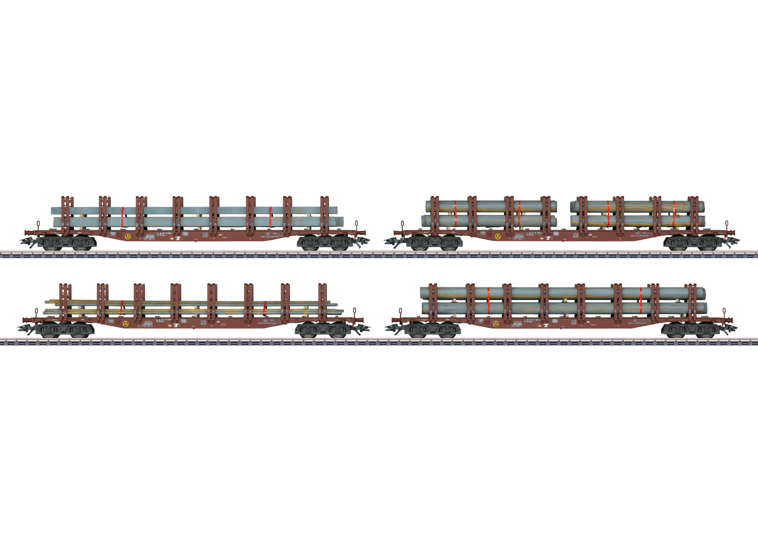 Steel Transport: Set with 4 Type Snps Stake Cars