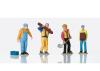 Set of Worker Figures