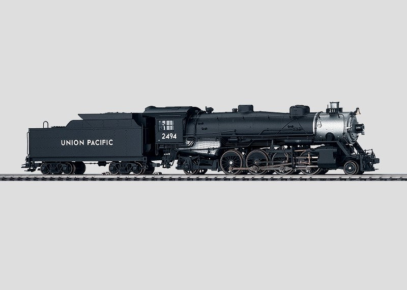 Dampflokomotive mit Schlepptender.
