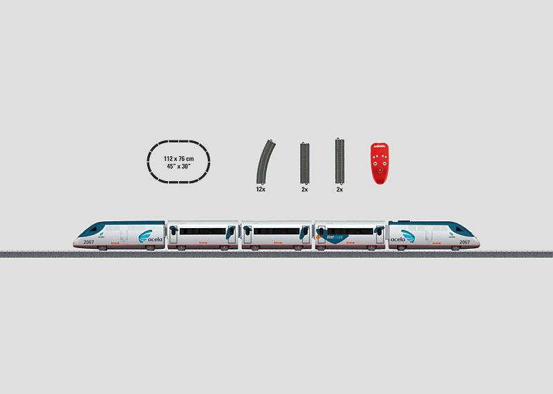 """Startpackung """"Amerikanischer Hochgeschwindigkeitszug"""". (Batterie)"""