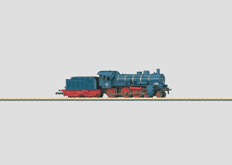 Personenzuglokomotive mit Schlepptender.