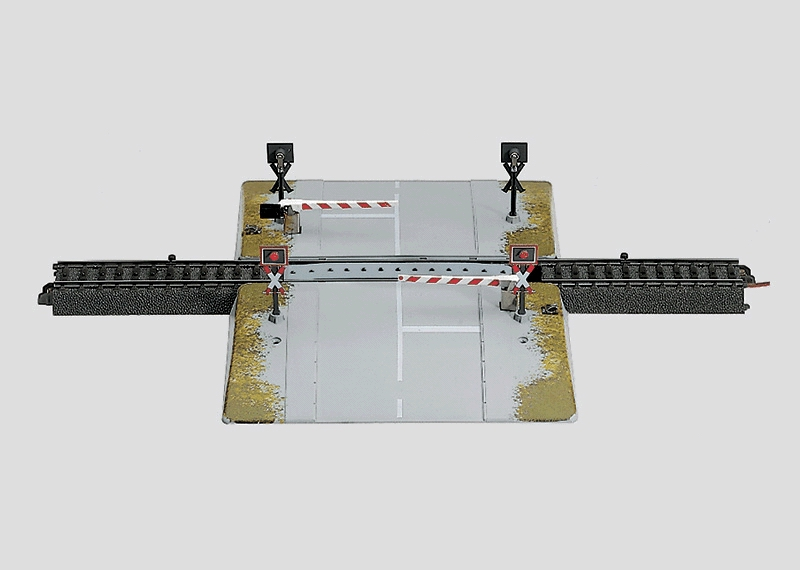 Vollautomatischer Bahnübergang.