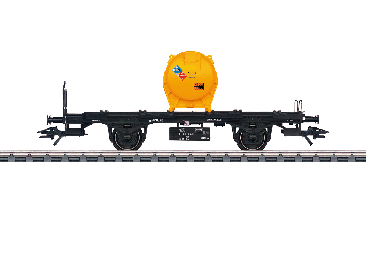 Container Flat Car for Medium Sized Containers