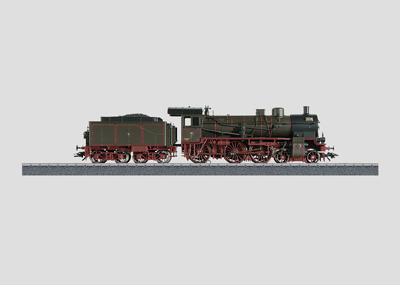 Passenger Locomotive with a Tender.