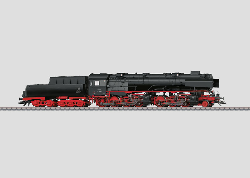 Dampflokomotive mit Wannentender.