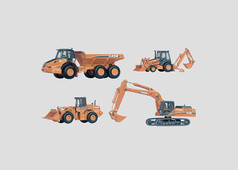 Verkaufspaket CASE Baumaschinen H0.