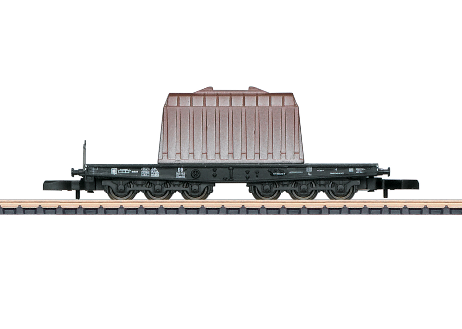 Type SSym 46 Heavy-Duty Flat Car with a Load of an Insulated Hood