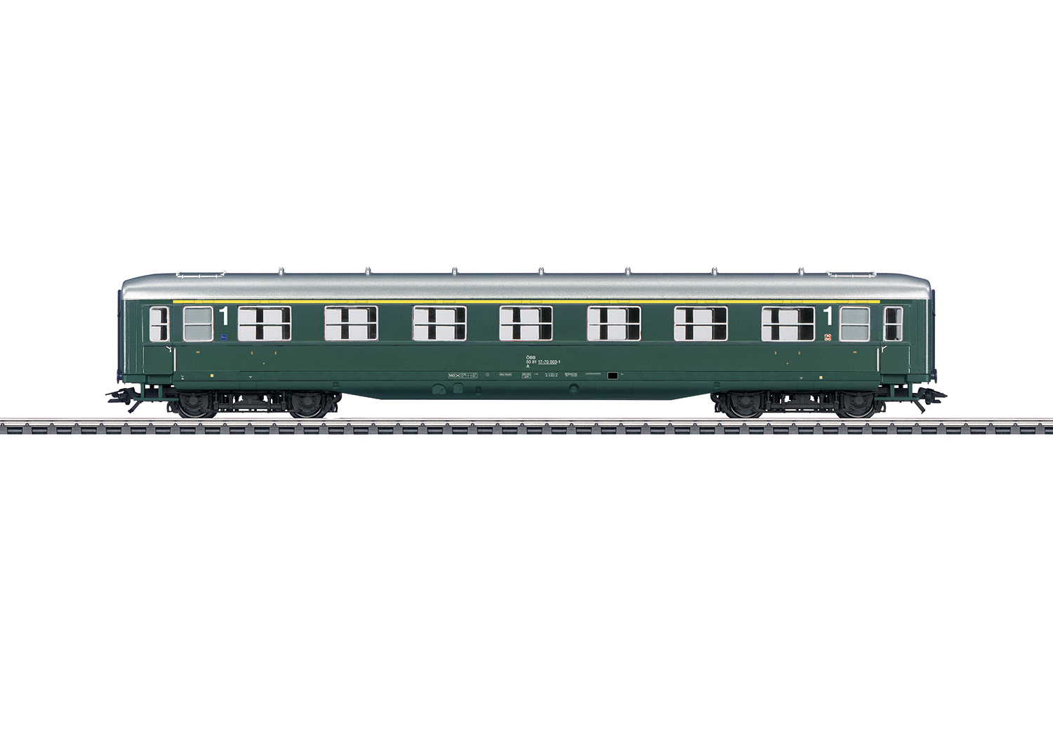 """Schürzenwagen"" / ""Skirted Passenger Car"", 1st Class"