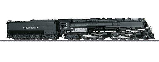 Locomotive à vapeur pour trains marchandises US avec tender à fuel séparé