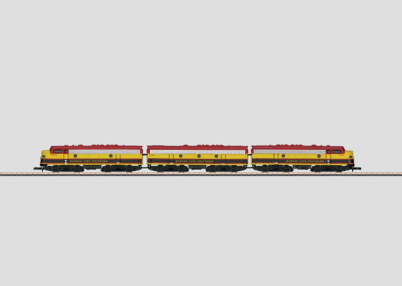 US-dieselelektrische Lokomotive als Dreifacheinheit.
