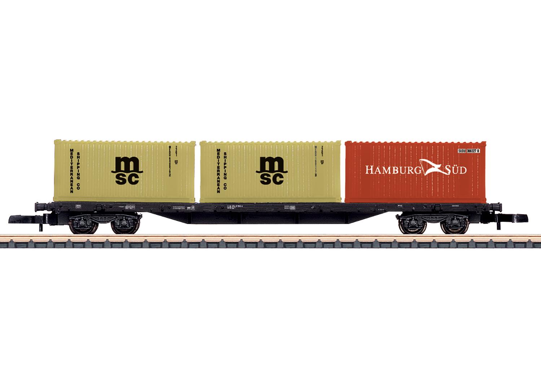 Vierachsiger Containertragwagen Sgs 693