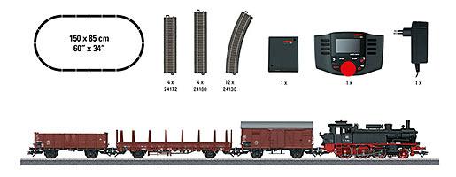 """Coffret de départ numérique """"Train marchandises, époque III"""". 230 V"""