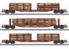 Rungenwagen-Set Holztransport
