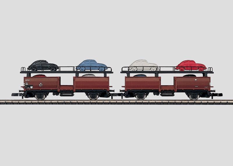 Autotransportwagen-Set.