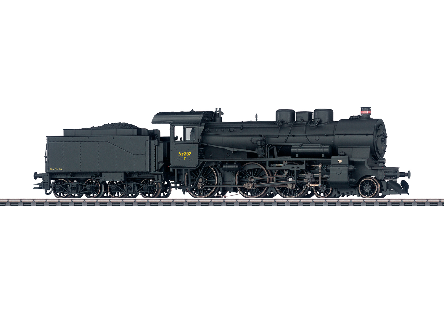 Class Litra T 297 Steam Locomotive with a Tender