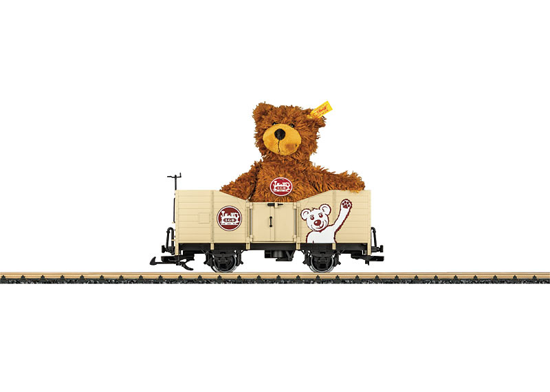 """Gondola with a """"Steiff Teddy"""" Freight Load"""