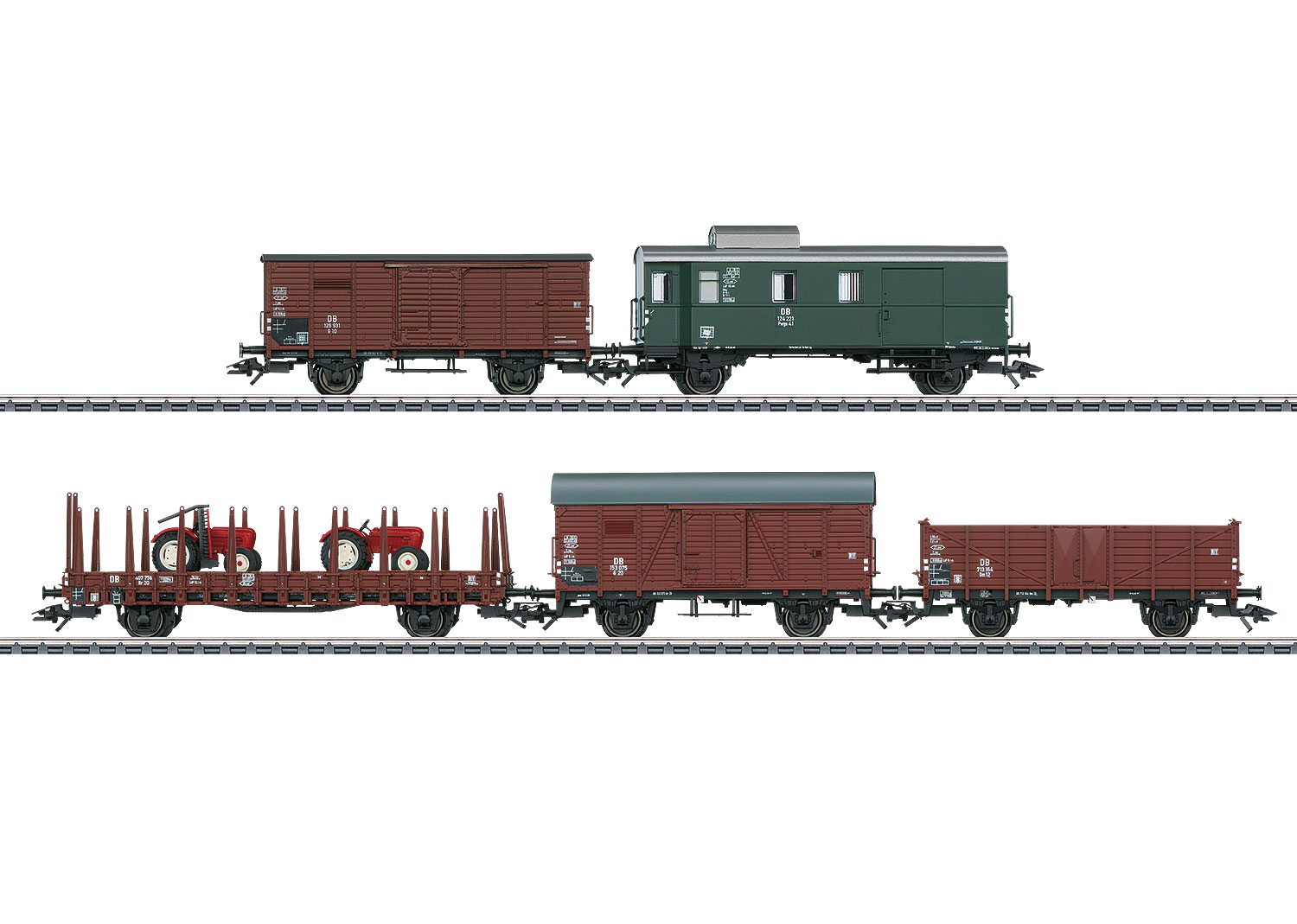 Set with 5 Freight Cars
