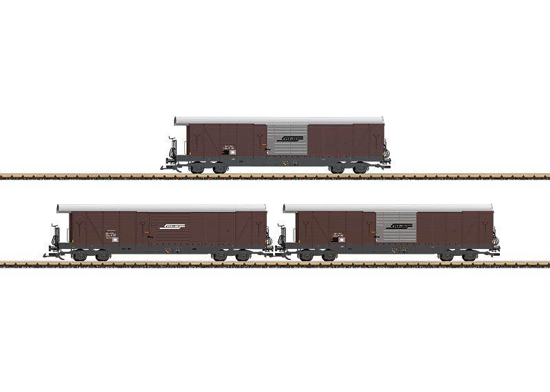 RhB Type Gak-v Freight Car Set