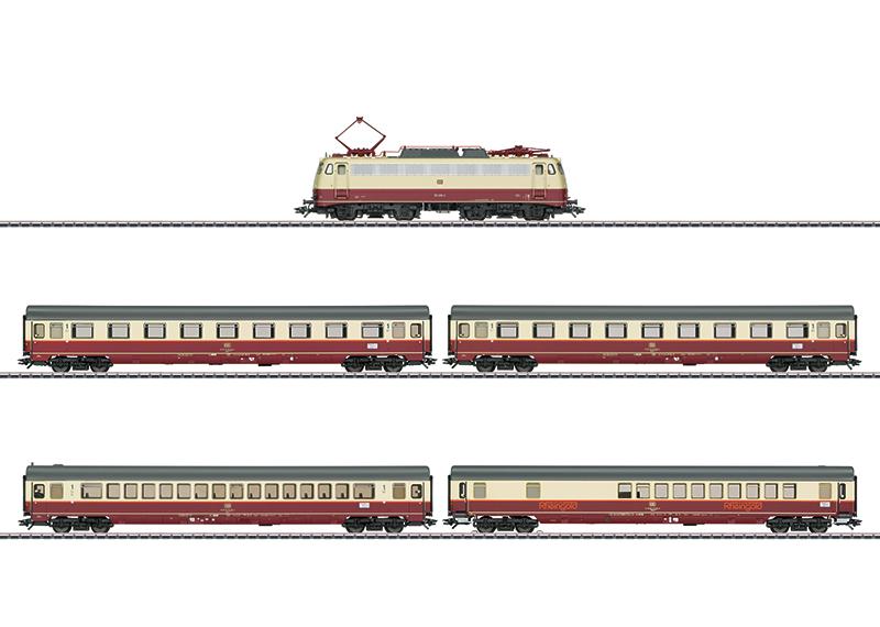 "Coffret de train Märklin H0 ""Train à tranches multiples Rheingold"""