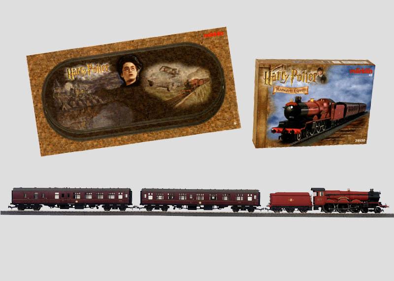 230 volts Coffret de train de voyageurs  «Hogwarts ExpressTM» avec  réseau en voie C et  transformateur-régulateur