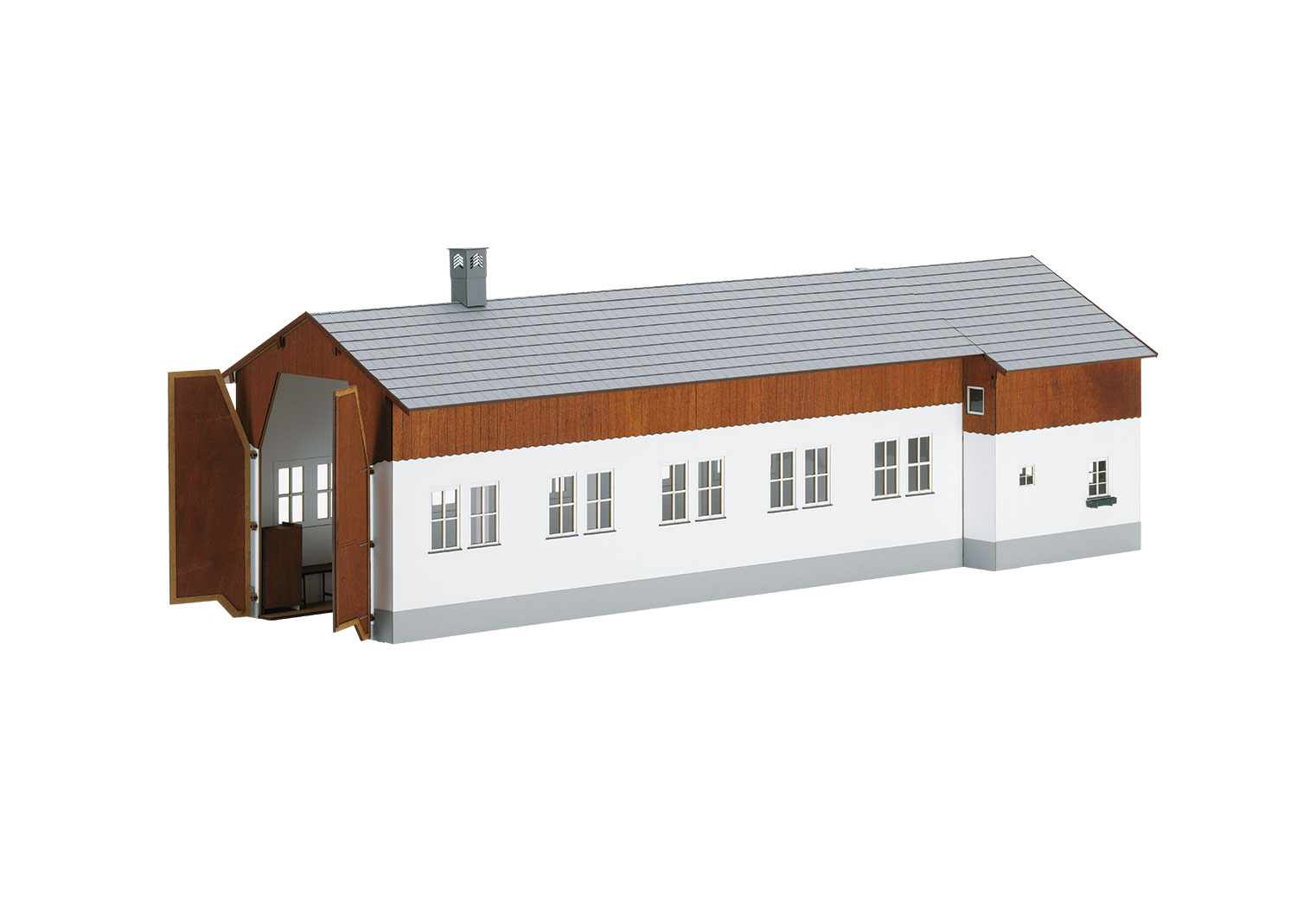 Building Kit of the Frasdorf (Bavaria) Single-Stall Locomotive Shed with a Locomotive Engineer's Residence