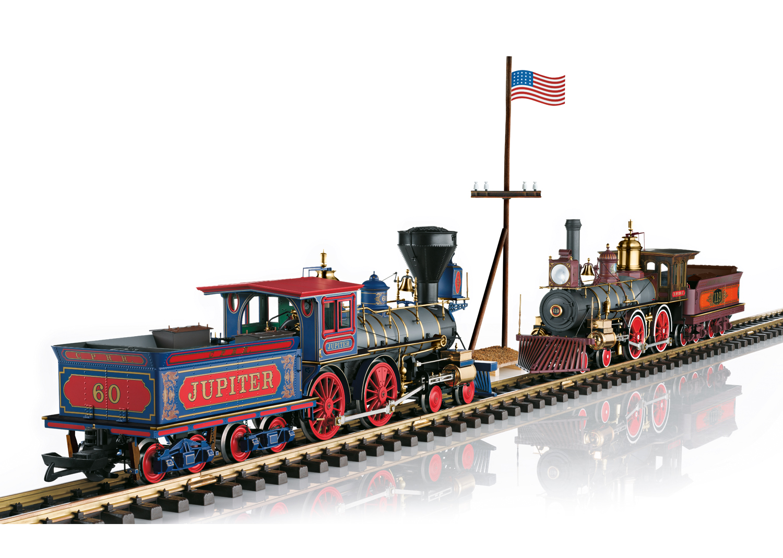 "Dampflokomotiven-Set ""Golden Spike"""