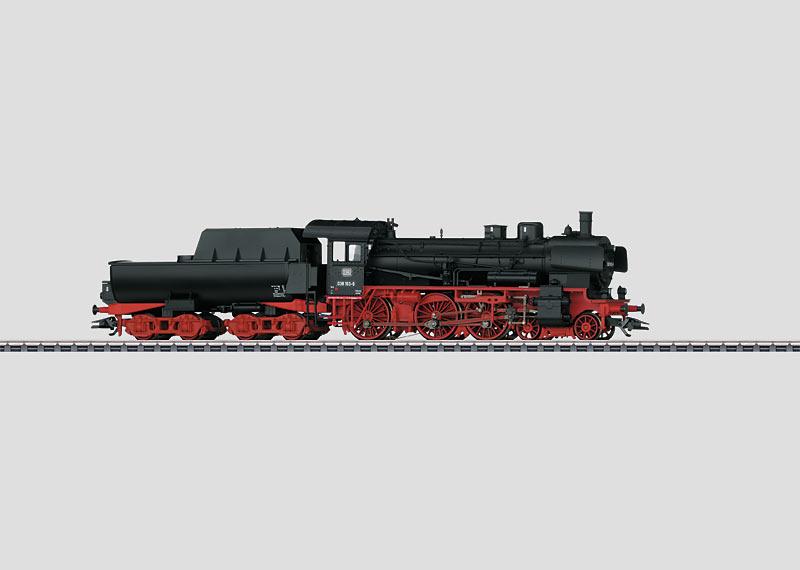 Personenzug-Dampflokomotive mit Wannentender.