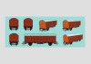 """Display mit 20 Güterwagen """"Dresden""""."""