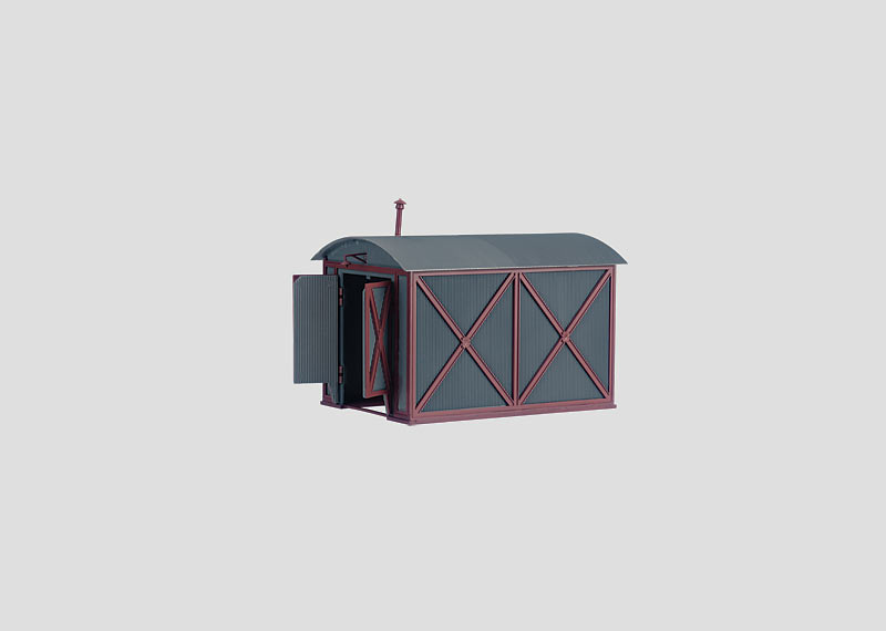Building Kit of a Locomotive Shed for Small Locomotives.
