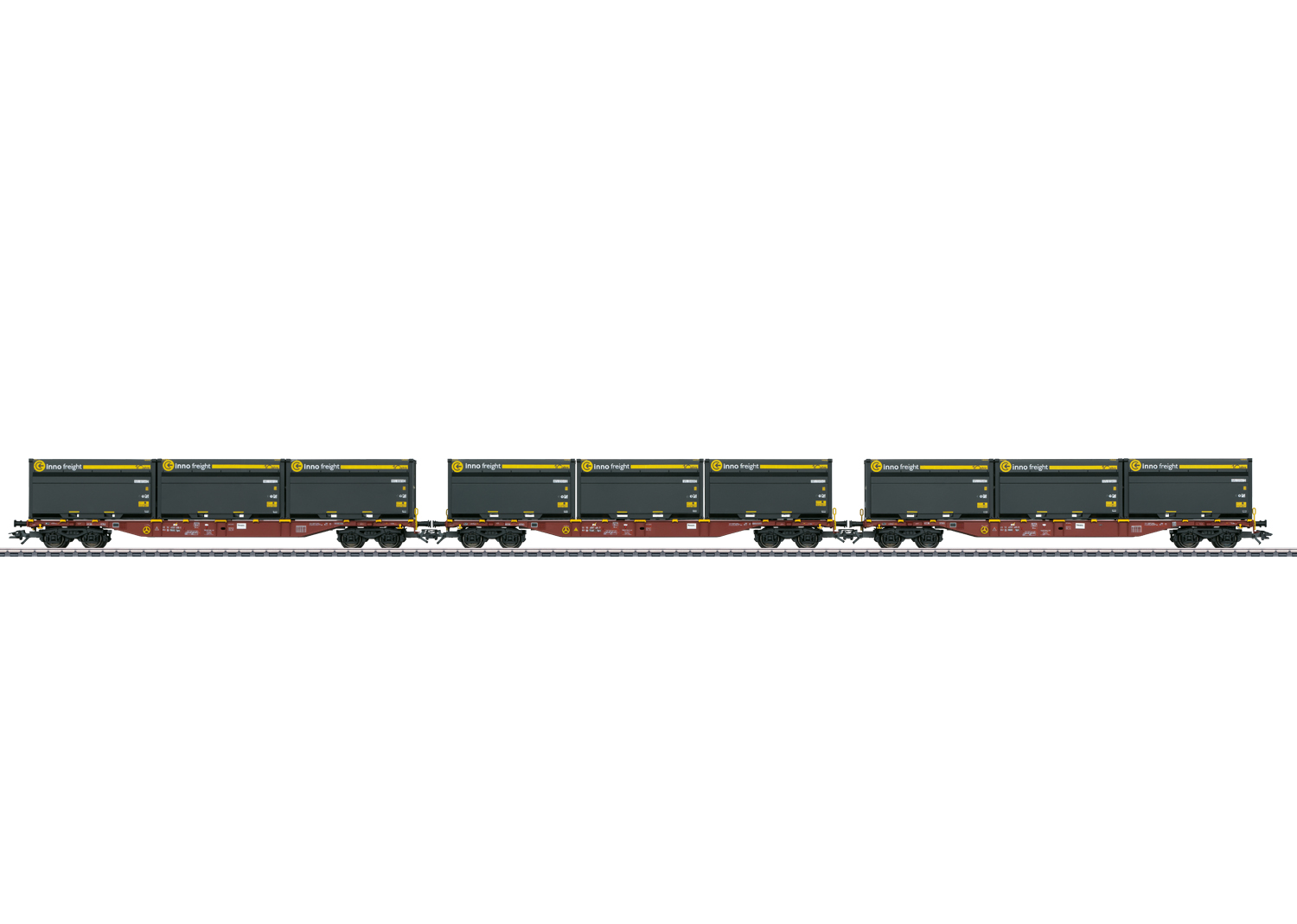 Three Type Sgns Container Transport Cars with WoodTainer XXL Containers