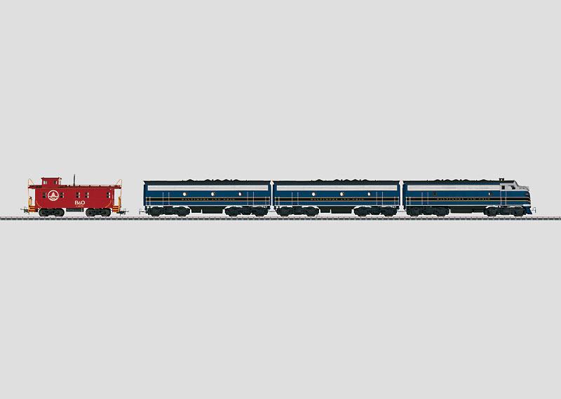 Dieselelektrische Lokomotive.