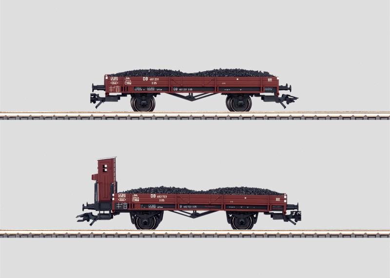 Wagenset voor het transport van sintels.