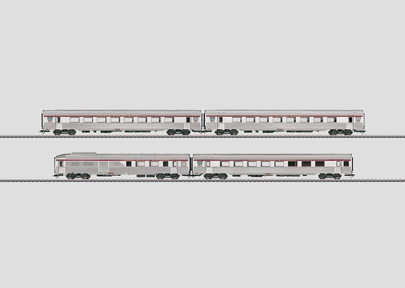 """L'Oiseau Bleu"" PBA TEE Express Train Passenger Car Set."