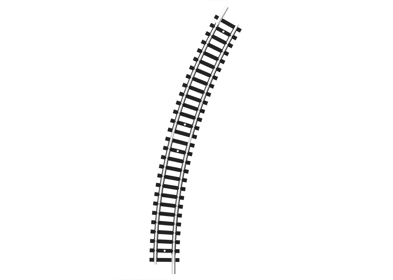 Gebogenes Gleis