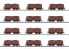 Selbstentladewagen-Set mit 12 Wagen OOt Saarbrücken / Erz IId