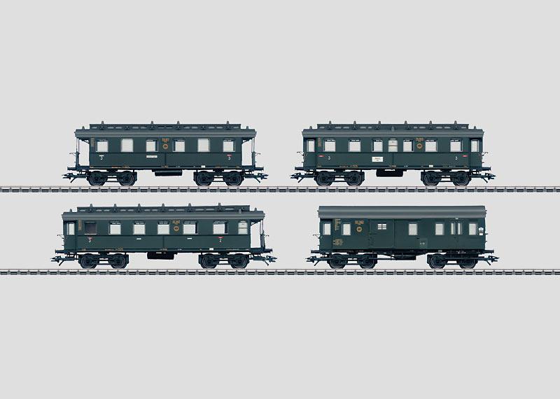 Set mit 4 Personenwagen.