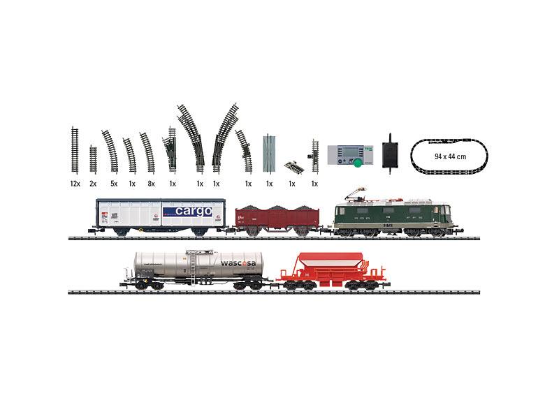 """Start-Set """"Güterverkehr in der Schweiz""""."""