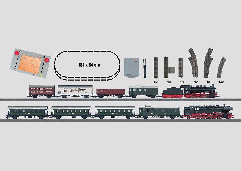 """German Federal Railroad"" Mega Digital Starter Set. 230 Volts."