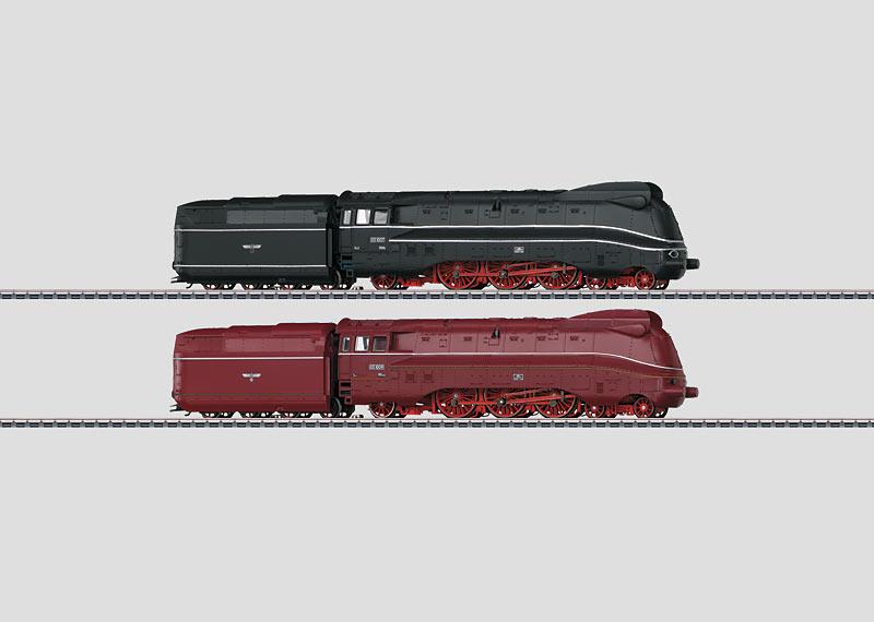 Set with 2 Streamlined Steam Locomotives.