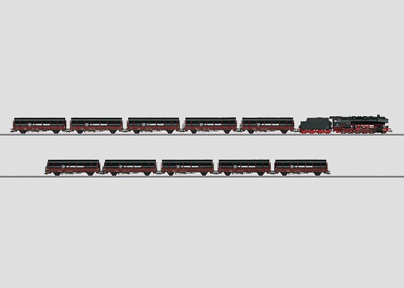 """""""Steel Pipe"""" Heavy Freight Train."""
