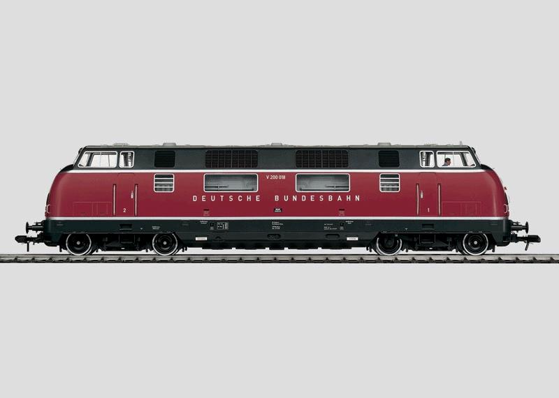 Schwere dieselhydraulische Lokomotive.
