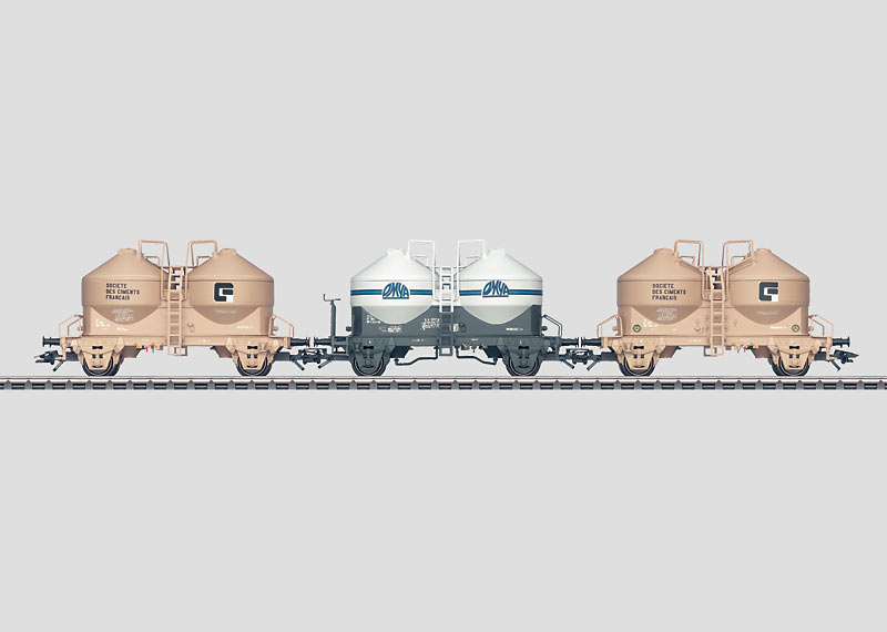 Set with 3 Silo Container Cars.