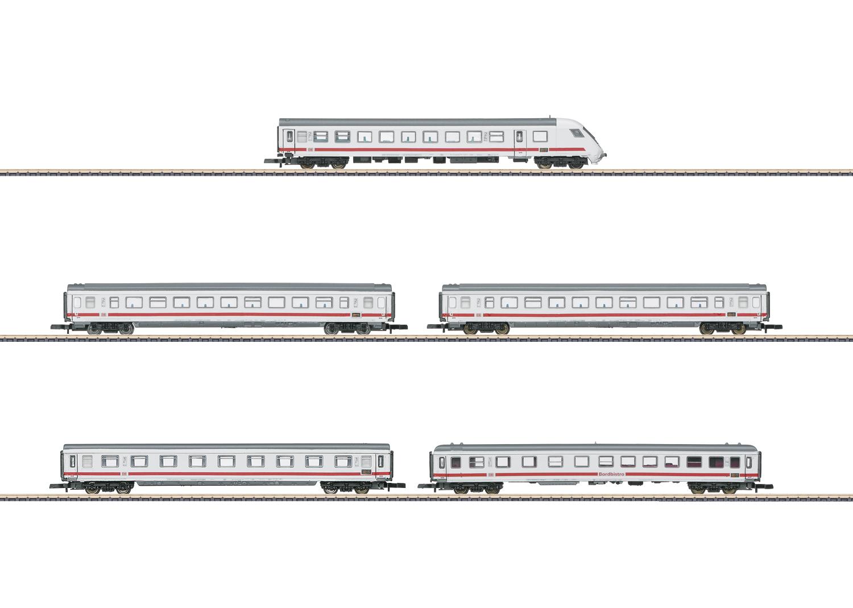 Intercity Car Set with 5 Cars